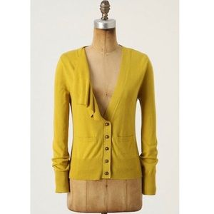 Moth ANTHROPOLOGIE | Ruffle Front Cardigan | S